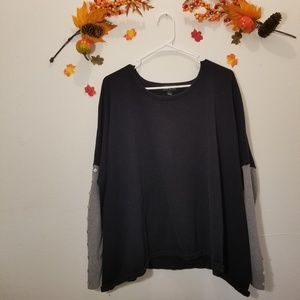 One A Black Oversized Sweater
